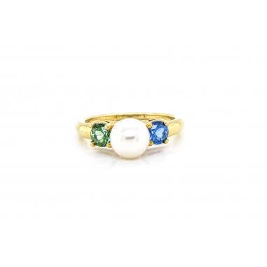 Δαχτυλίδι 41620-00 BL-GR